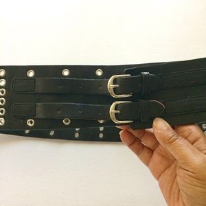 Accessories - Black Hip Belt Double Closure Grommets Size OS
